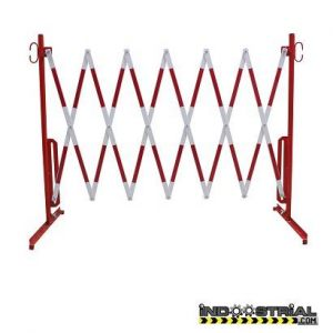 Valla extensible 3,6 m rojo-blanco