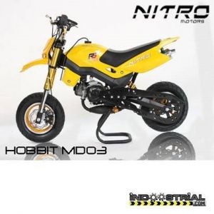 Dirt Bike HOBBIT 49 CC | Amarillo
