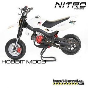 Dirt Bike HOBBIT 49 CC | Blanco